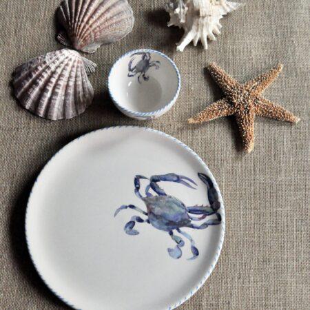 Italian Hand-Painted Ceramics Blue Crab