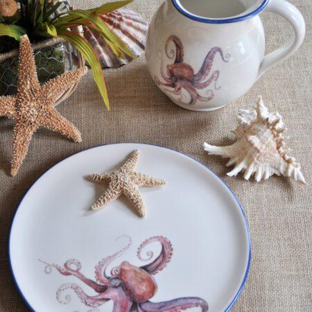 Italian Hand-Painted Ceramics Octopus