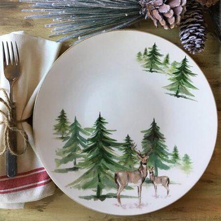 Italian Hand Painted Ceramics Woodlands